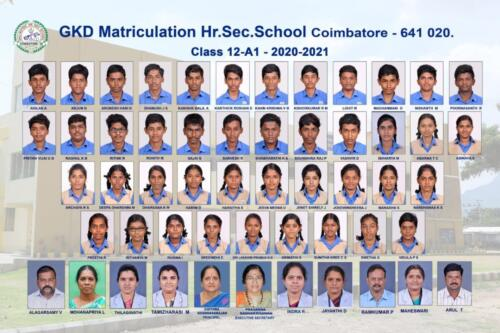 Outgoing students of class XII 2020-2021